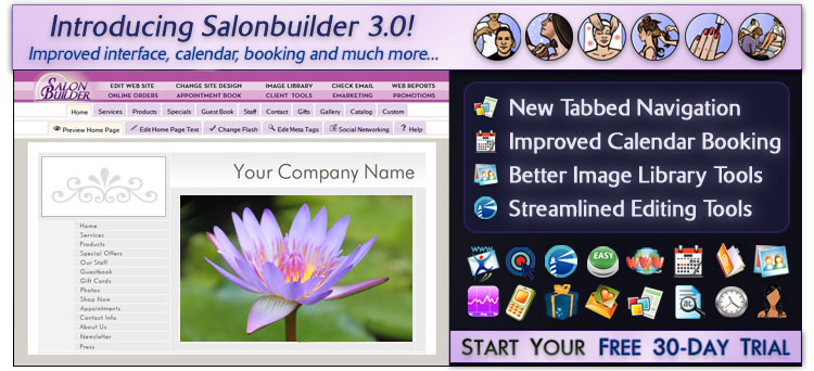 Get new clients with SalonBuilder (Load Email Images to See Preview)