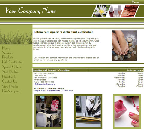Sleek Simple Green Website Design (153)