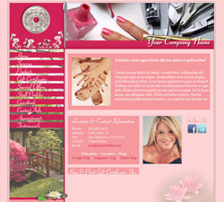 Oriental Garden Pink Website Design (15)