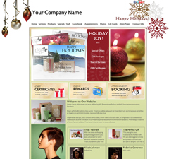 Holiday Ornaments Website Design (711)
