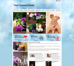 Holiday Snowflake Website Design (712)