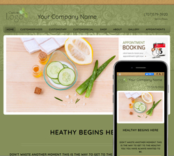 Inspire Balance Green Website Design (883)