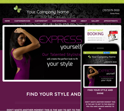Inspire Luxury Purple Website Design (885)