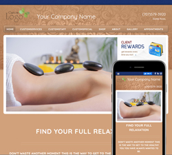 Inspire Relaxation TanBlue Website Design (888)